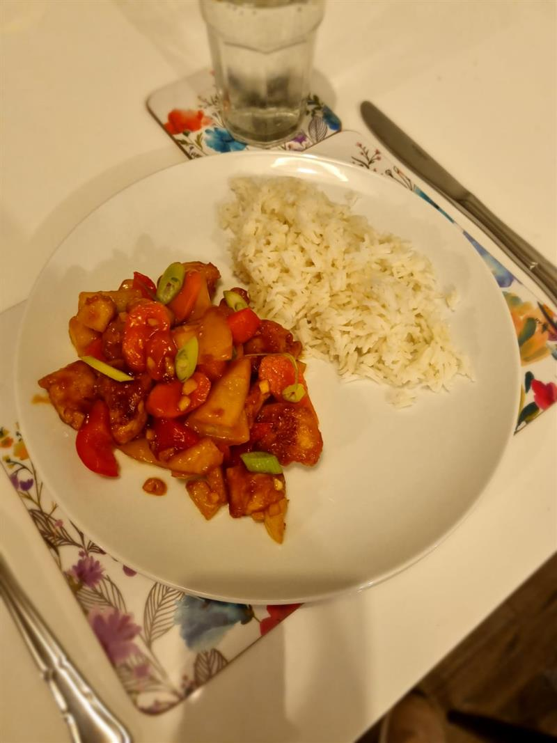 Ms Sunderland, Chinese Sweet and Sour Chicken.JPG